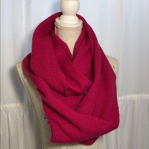 J. CREW Factory Infinity Scarf Hot Pink Winter